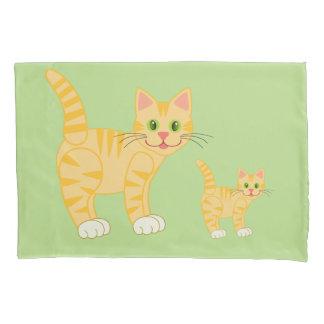 Cute Striped Cartoon Cat Kitty Kids Custom Color Pillowcase