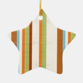 CUTE Stripes  Graphic ART Gifts by NavinJoshi Double-Sided Star Ceramic Christmas Ornament