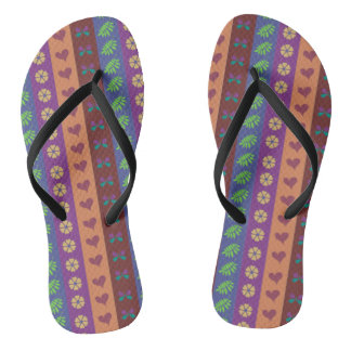 Cute Stripes Pattern Thongs