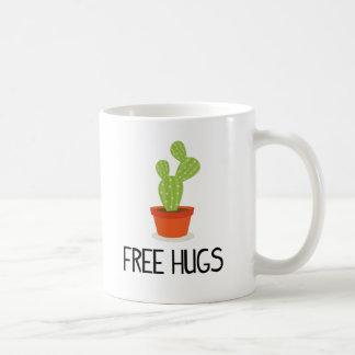 Cute succulent cactus free hugs coffee mug