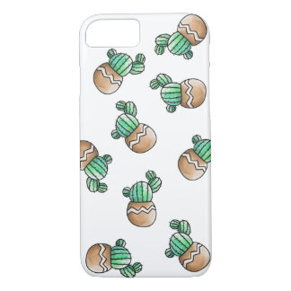 Cute Succulent Cactus Pattern Illustration iPhone 7 Case