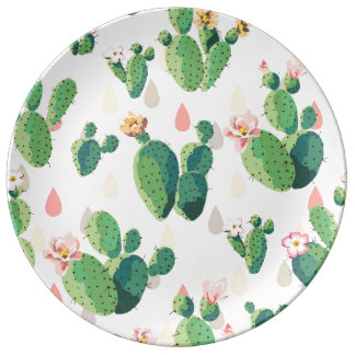 Cute Succulent Lovely Cactus Decorative Plate