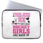 cute sugar and spice ice hockey girls laptop sleeve