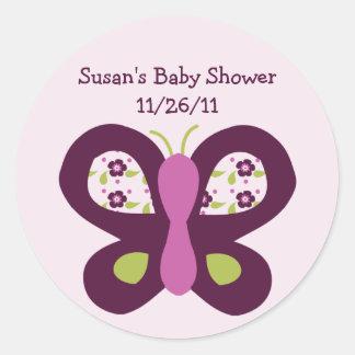 Cute Sugar Plum Butterfly Stickers/Envelope Seals Round Sticker