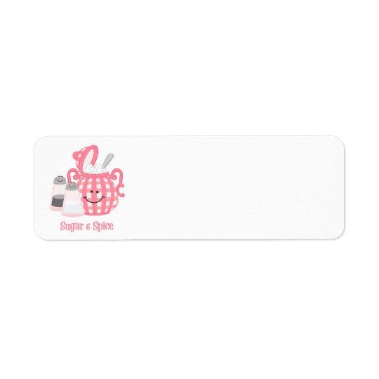 Cute Sugar & Spice Label Return Address Label