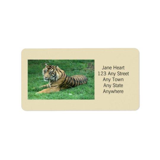 Cute Sumatran Tiger In The Grass Avery Label Address Label