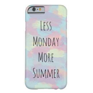 cute summer colorful pastel brushstrokes pattern barely there iPhone 6 case