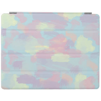 cute summer colorful pastel brushstrokes pattern iPad cover