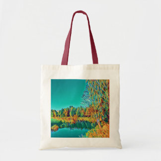 Cute Summer Countryside Landscape Tote Bag