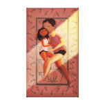 "Cute Summer Couple Art ""Summer Nights"" Medium Stretched Canvas Print"