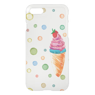 Cute Summer Watercolor Ice Cream Dots iPhone 7 iPhone 7 Case