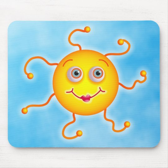 Cute Sun Mouse Pad