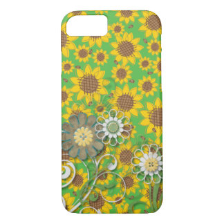 Cute SUNFLOWER Posey iPhone 7 CASE