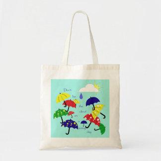 Cute Sunny Day Umbrellas Tote Budget Tote Bag