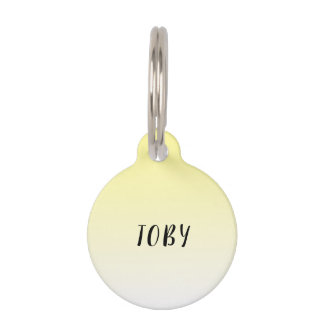 Cute Sunny Yellow Summer Ombre Gradient Pet ID Tag