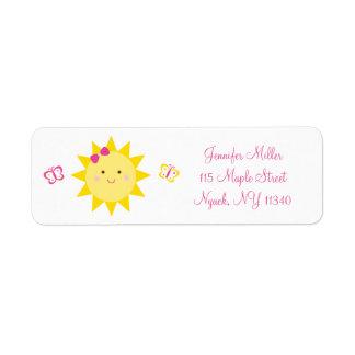 Cute Sunshine Birthday Address Return Address Label