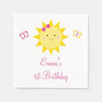 Cute Sunshine Birthday Disposable Serviettes