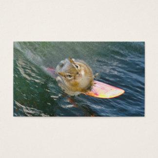 Cute Surfing Chipmunk Business Card