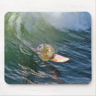 Cute Surfing Chipmunk Mouse Pad
