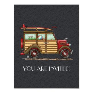 Cute Surfing Woody 11 Cm X 14 Cm Invitation Card