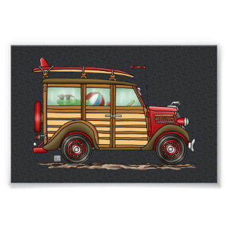 Cute Surfing Woody Photographic Print