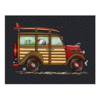 Cute Surfing Woody Postcard