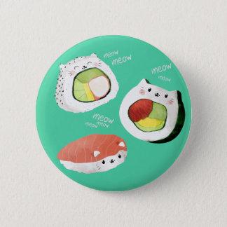 Cute Sushi Cat 6 Cm Round Badge
