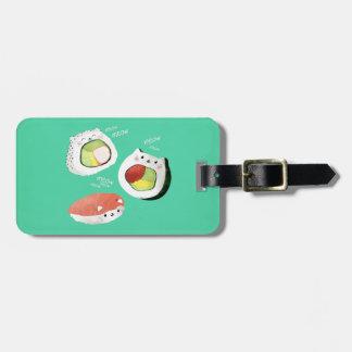 Cute Sushi Cat Luggage Tag