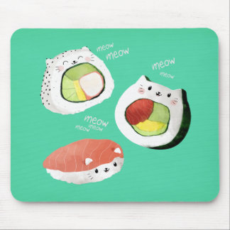 Cute Sushi Cat Mouse Pad
