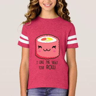 Cute Sushi Roll Emoji T-Shirt