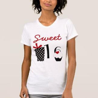 Cute Sweet 16 Cupcake and Polkadot Present T-Shirt