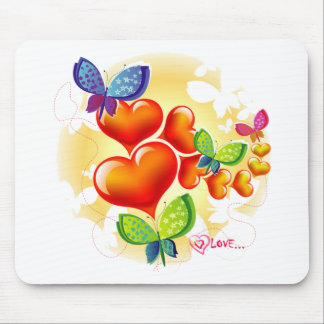 Cute Sweet Colorfull Summer Love Friendship Mouse Pad