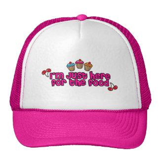 Cute sweet cupcakes, cherries & strawberries trucker hat