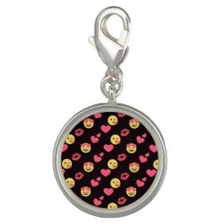 cute sweet emoji love hearts kiss lips pattern