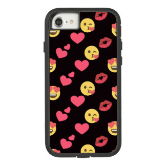 cute sweet emoji love hearts kiss lips pattern Case-Mate tough extreme iPhone 8/7 case