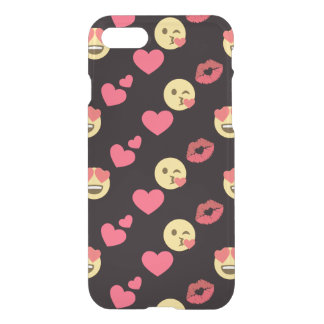 cute sweet emoji love hearts kiss lips pattern iPhone 8/7 case