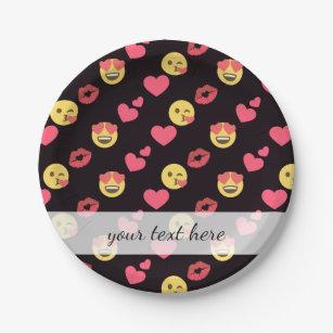 Kiss Emoji Plates   Zazzle AU