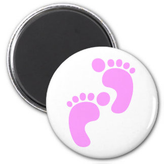 Cute Sweet Footsteps Funny Shirt 6 Cm Round Magnet