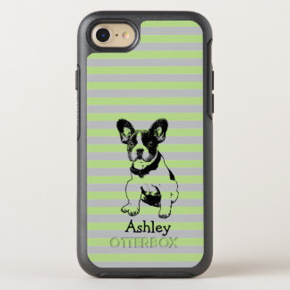 Cute Sweet French Bulldog Puppy Name Color OtterBox Symmetry iPhone 8/7 Case