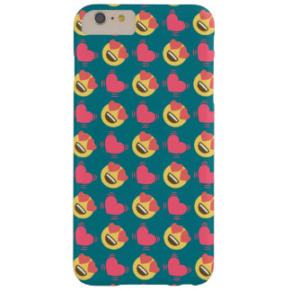 Cute Sweet In Love Emoji, Hearts pattern Barely There iPhone 6 Plus Case