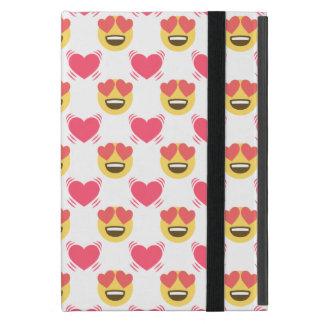 Cute Sweet In Love Emoji, Hearts pattern iPad Mini Case