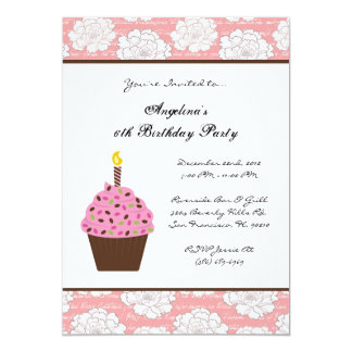 CUTE Sweet Kids Fun Birthday Party 13 Cm X 18 Cm Invitation Card