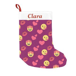 Cute Sweet Pink Emoji Love Hearts Kiss Pattern