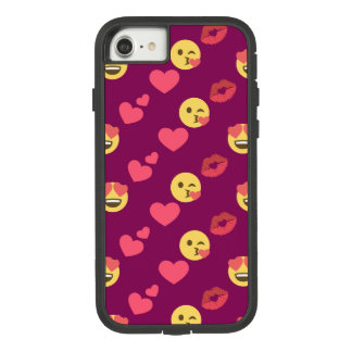 Cute Sweet Pink Emoji Love Hearts Kiss Pattern Case-Mate Tough Extreme iPhone 8/7 Case