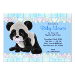 "CUTE Sweet Plush Baby Panda Bear Baby Shower 5"" X 7"" Invitation Card"