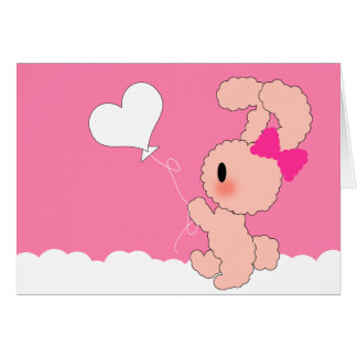 Cute Sweet Thinking of you card in PINK