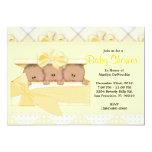 CUTE Sweet Yellow Baby Shower 13 Cm X 18 Cm Invitation Card