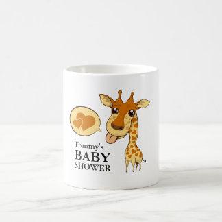 Cute Sweetheart Giraffe Baby Shower Mugs