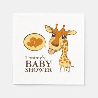 Cute Sweetheart Giraffe Baby Shower Napkin Disposable Serviettes