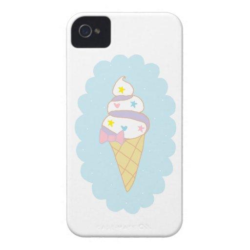 Cute Swirl Ice Cream Cone Blackberry Cases